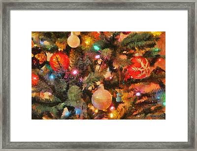 Christmas Branches Framed Print by Jeff Kolker