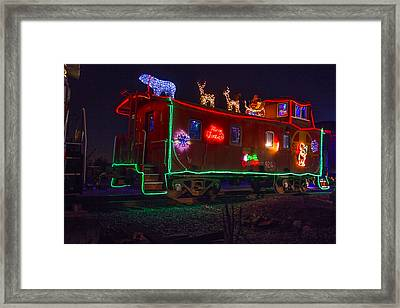 Christmas Caboose  Framed Print by Garry Gay