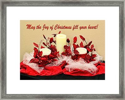 Christmas  Candels Framed Print by Linda Phelps