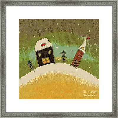 Christmas Card Framed Print by Yana Vergasova