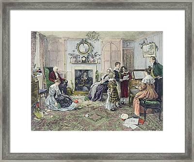 Christmas Carols Framed Print by Walter Dendy Sadler