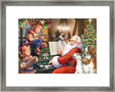 Christmas Carols Framed Print by Zorina Baldescu