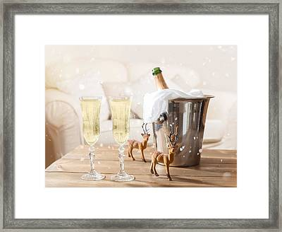 Christmas Champagne Framed Print by Amanda And Christopher Elwell