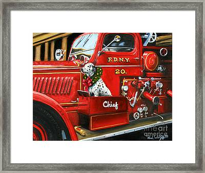 Christmas Chief Framed Print by Paul Walsh
