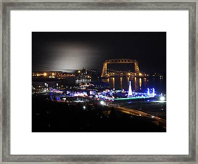 Christmas City Framed Print by Alison Gimpel