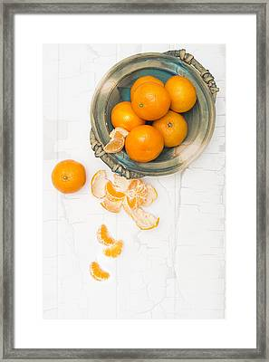 Christmas Clementines Framed Print by Amanda And Christopher Elwell