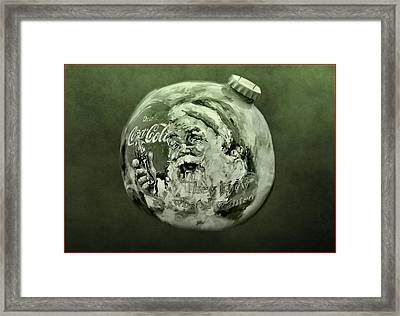 Christmas Coca Cola Framed Print by Dan Sproul