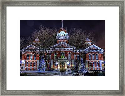 Christmas Courthouse Framed Print by Scott Wood