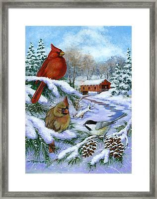 Christmas Creek Framed Print by Richard De Wolfe