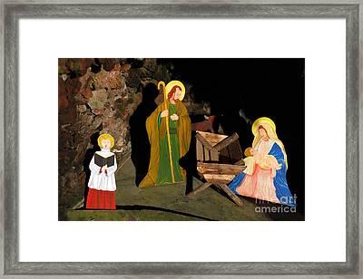 Christmas Crib Scene Framed Print by Gaspar Avila