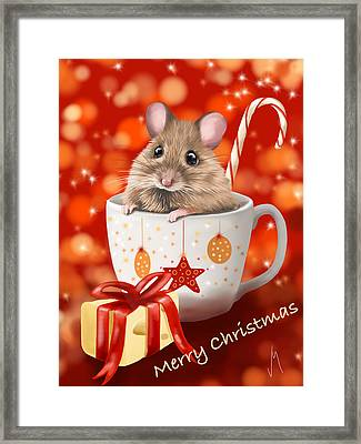 Christmas Cup Framed Print by Veronica Minozzi
