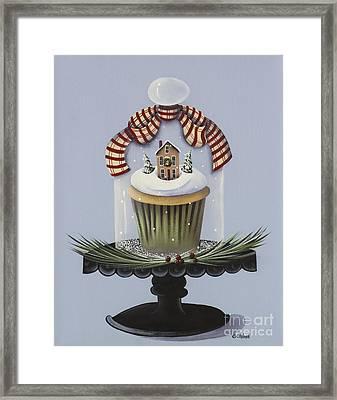 Christmas Cupcake Framed Print by Catherine Holman