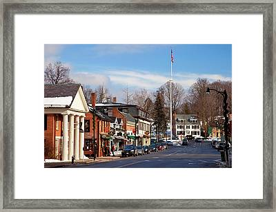 Christmas Day On Main Street, Concord Framed Print by Brian Jannsen