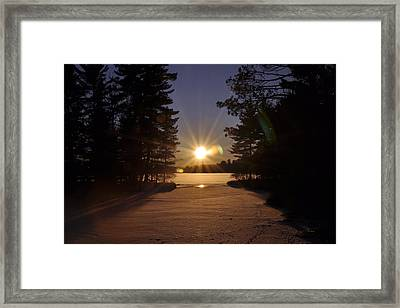Christmas Day Sunset Framed Print by RJ Martens