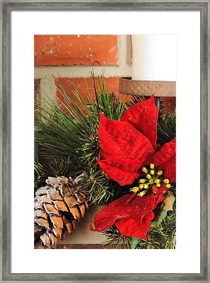 Christmas Decor Close Framed Print by Kenneth Sponsler