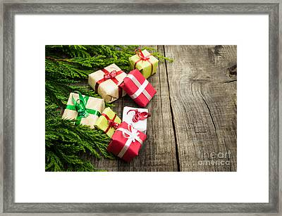 Christmas Decoration Framed Print by Aged Pixel