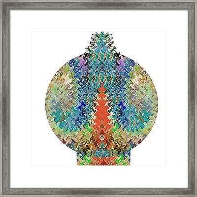 Christmas Decorative Ball Wave Sepctrum Colorful Sparkle Looks Like Xmas Tree Framed Print by Navin Joshi