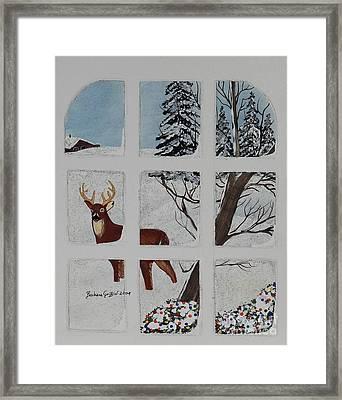 Christmas Deer  Framed Print by Barbara Griffin