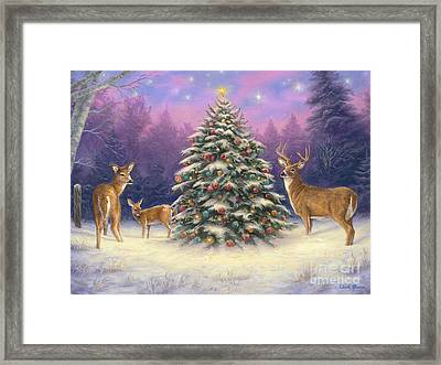 Christmas Deer Framed Print by Chuck Pinson