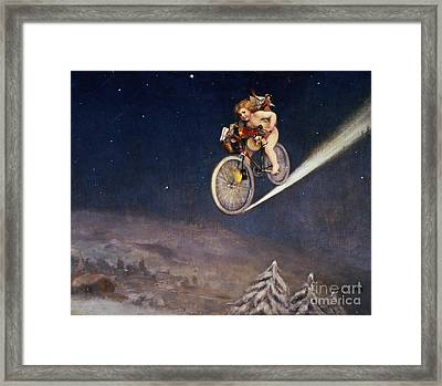 Christmas Delivery Framed Print by Jose Frappa