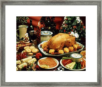 Christmas Dinner Framed Print by The Irish Image Collection