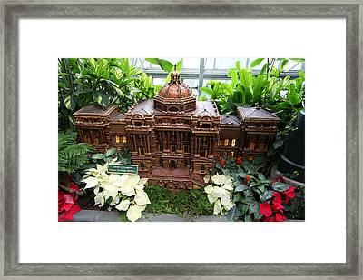 Christmas Display - Us Botanic Garden - 011347 Framed Print by DC Photographer