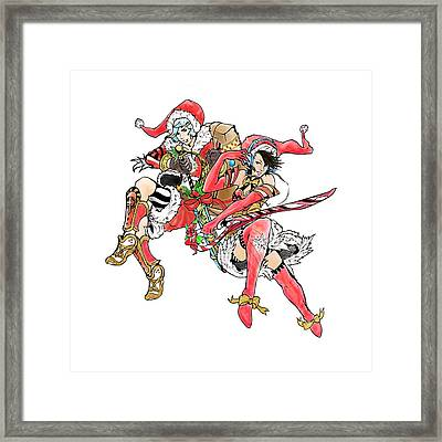 Christmas Duo Framed Print by Miguel Karlo Dominado