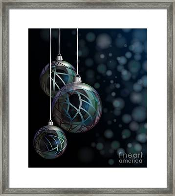 Christmas Elegant Glass Baubles Framed Print by Jane Rix