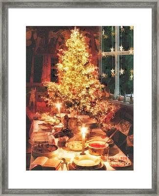 Christmas Eve Framed Print by Mo T