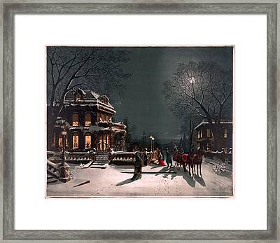 Christmas Eve Framed Print by Unknown