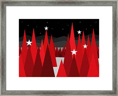 Christmas Eve Framed Print by Val Arie