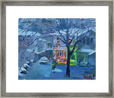 Christmas Eve Framed Print by Ylli Haruni