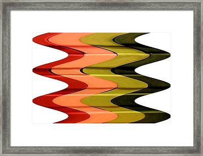 Christmas Frenzy Op Art Framed Print by Patricia Sundik