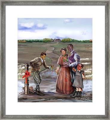Christmas Gift - An Antebellum Christmas Framed Print by Reggie Duffie