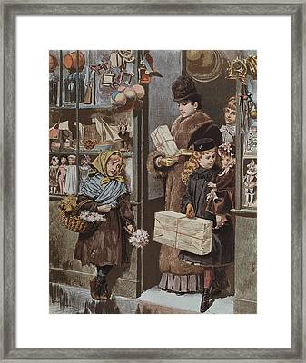 Christmas Gifts Framed Print by Adrien Emmanuel Marie