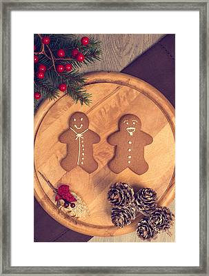 Christmas Gingerbread Framed Print by Amanda Elwell