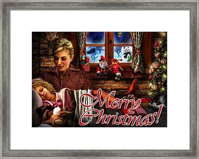 Christmas Greeting Card V Framed Print by Alessandro Della Pietra