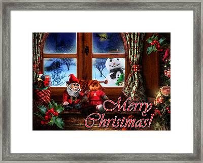 Christmas Greeting Card Vi Framed Print by Alessandro Della Pietra