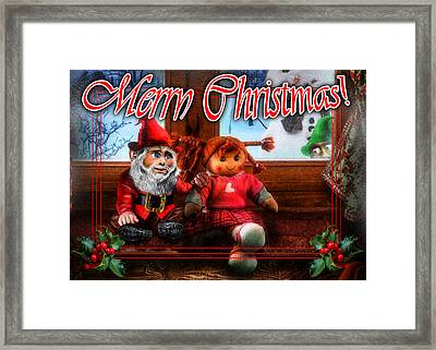 Christmas Greeting Card Vii Framed Print by Alessandro Della Pietra