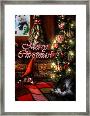 Christmas Greeting Card Viii Framed Print by Alessandro Della Pietra