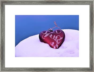 Christmas Heart  Framed Print by Toppart Sweden