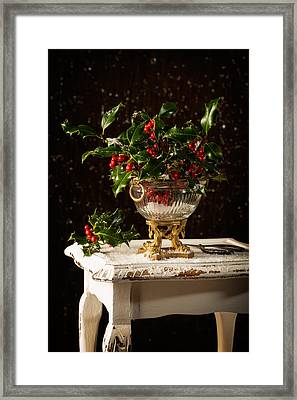 Christmas Holly Framed Print by Amanda And Christopher Elwell