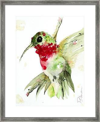 Christmas Hummer Framed Print by Dawn Derman
