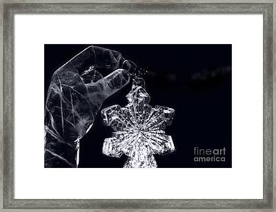 Christmas In Ice Framed Print by Sharon Mau