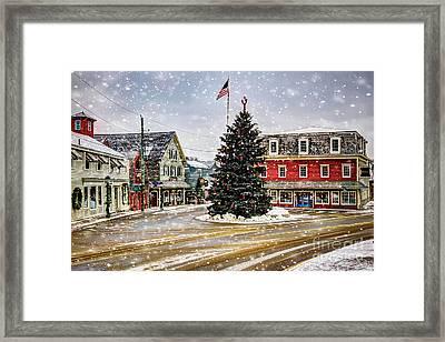 Christmas In Kennebunkport Framed Print by Brenda Giasson