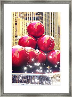 Christmas In New York Framed Print by Sophie Vigneault