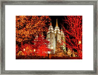 Christmas In Red Framed Print by La Rae  Roberts