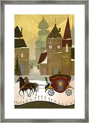 Christmas In The Old World Framed Print by Kristina Vardazaryan