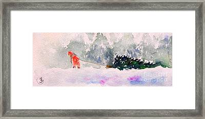 Christmas Is Coming Framed Print by Yoshiko Mishina