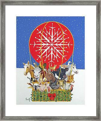 Christmas Journey Oil On Canvas Framed Print by Pat Scott